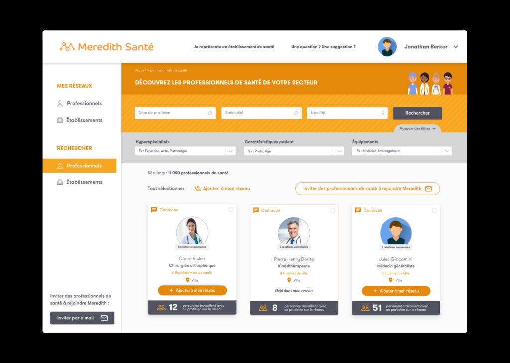 créer son profil meredith santé